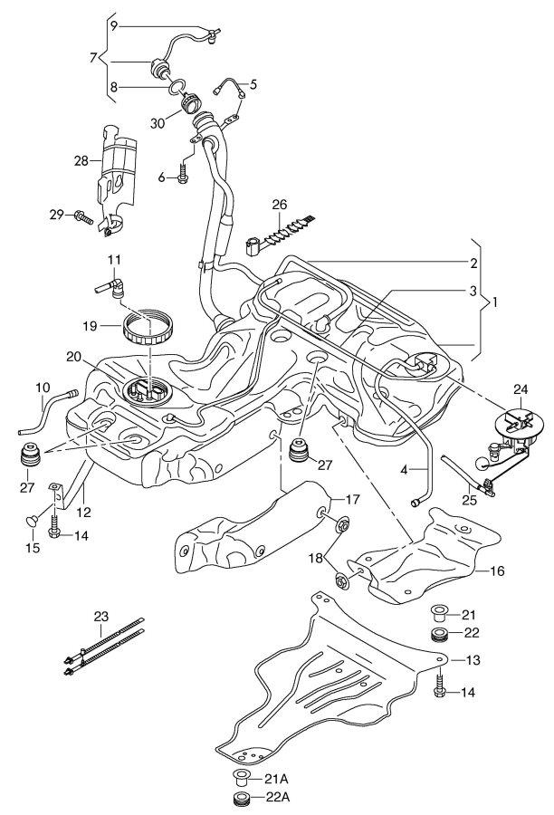 Service manual [2009 Audi A5 Change Gas Tank Vent Line