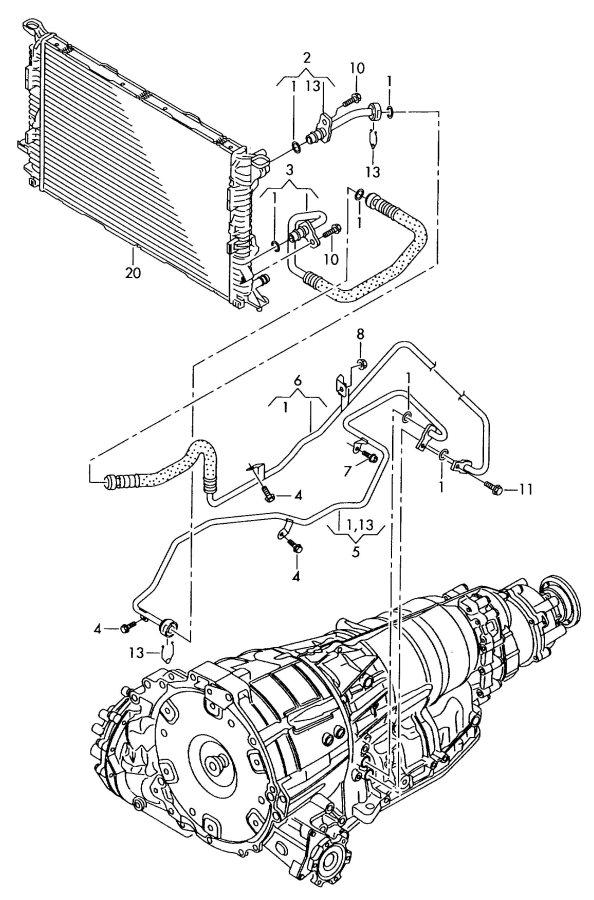 2010 Audi A5 Coupe Oil pressure line. OIL LINE
