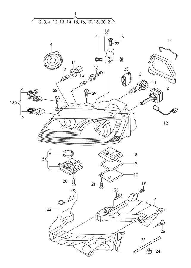 Audi S5 Sportback (cornering light) power module for gas
