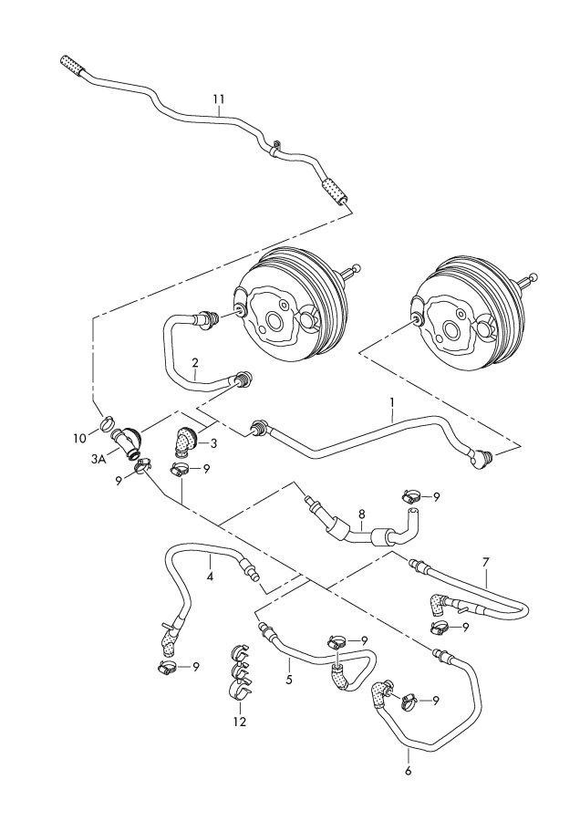 2011 Audi Vacuum pipe. GIRLINGTRW, ATE, Startstop