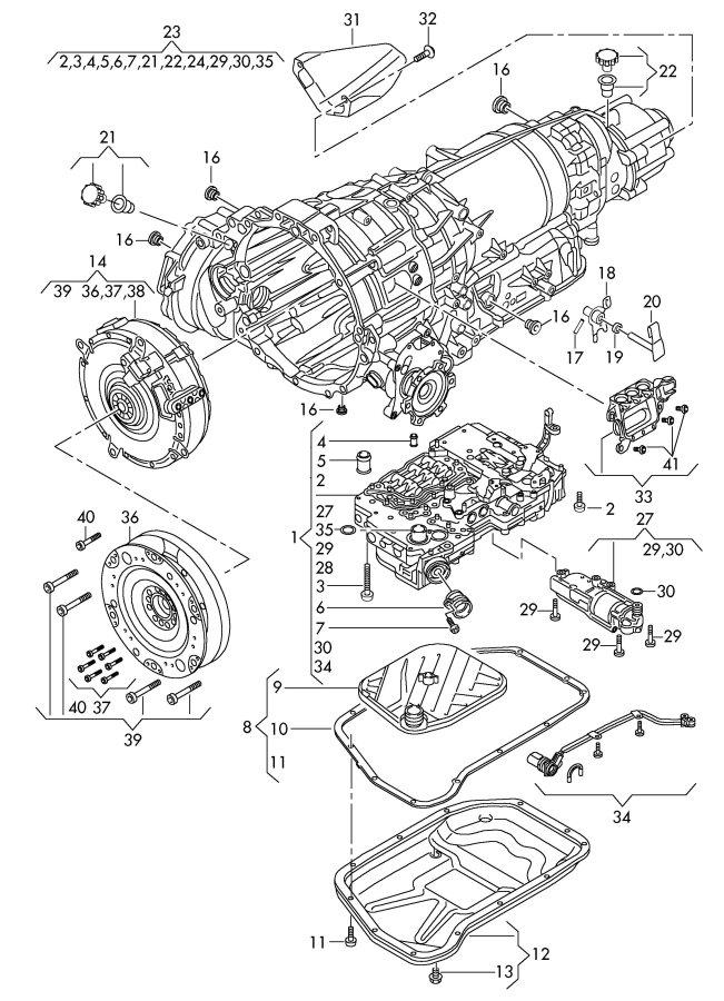 2009 Audi Q5 1 set oil drain plugs and monitor screws. 1