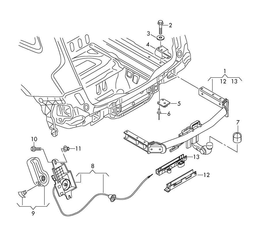 Audi Q5 Release lever. Tow, Swiveltype, Swiveling