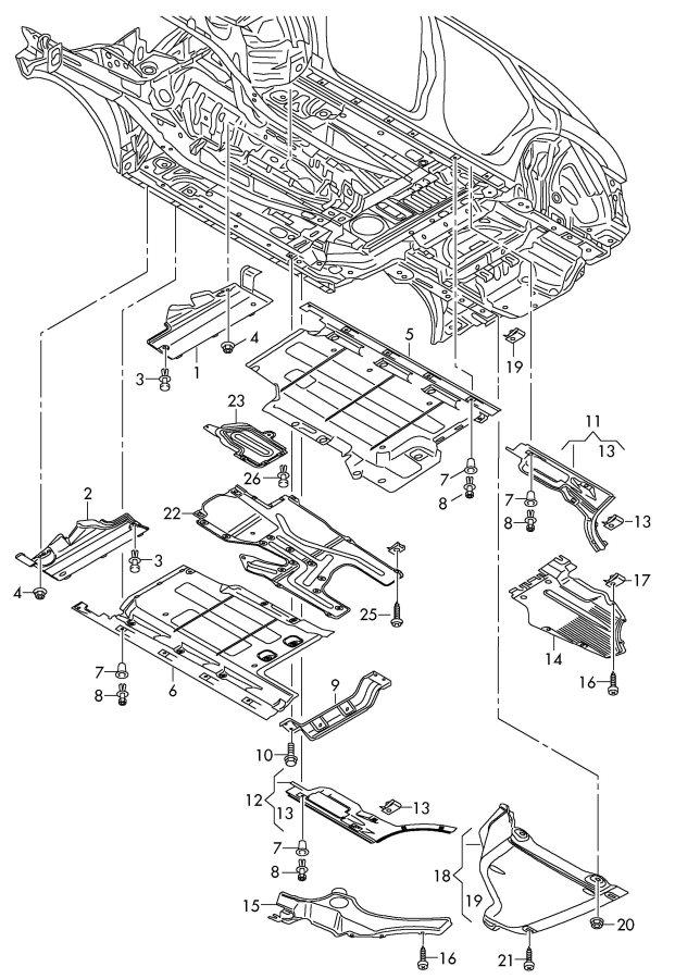 Audi Underbody lining