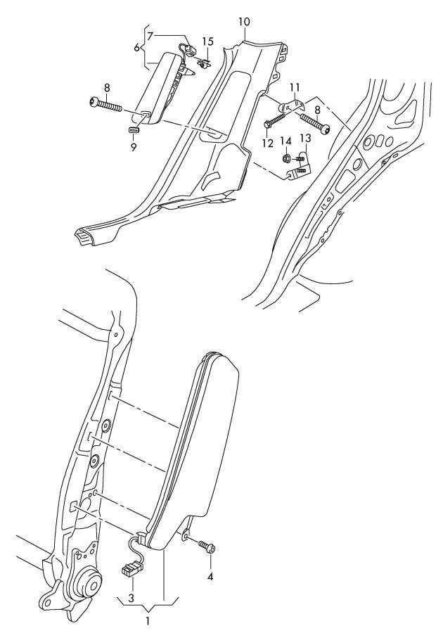 2009 Audi Q5 Flat contact housing airbag matching contact