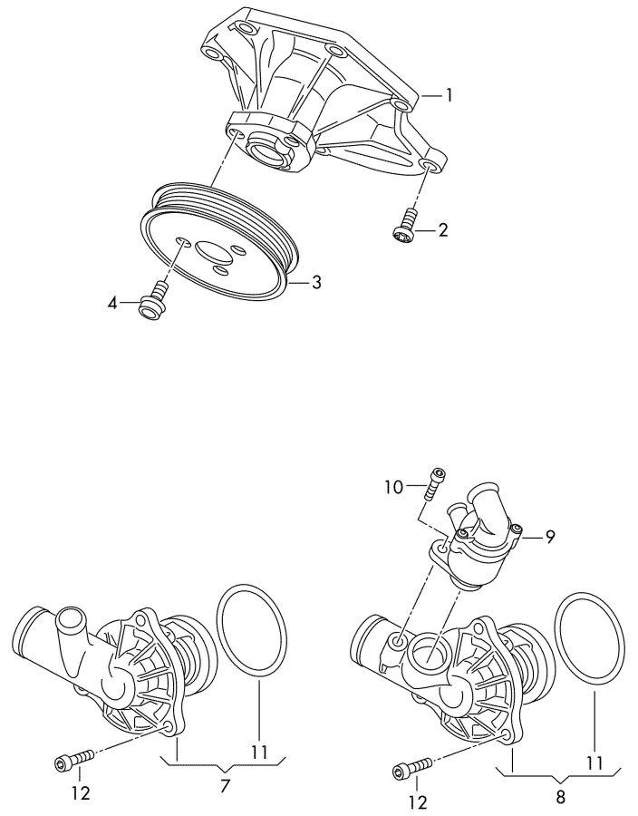 Service manual [2012 Audi A7 Water Pump Replacement Bolt