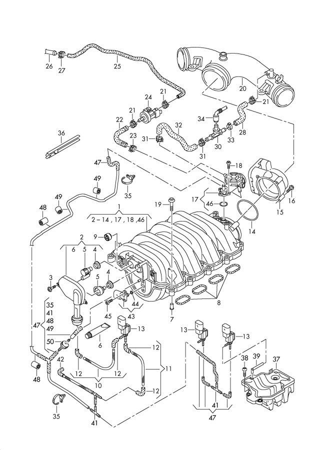 2005 Audi A4 Avant 6-AT 3.7L Pressure sensor