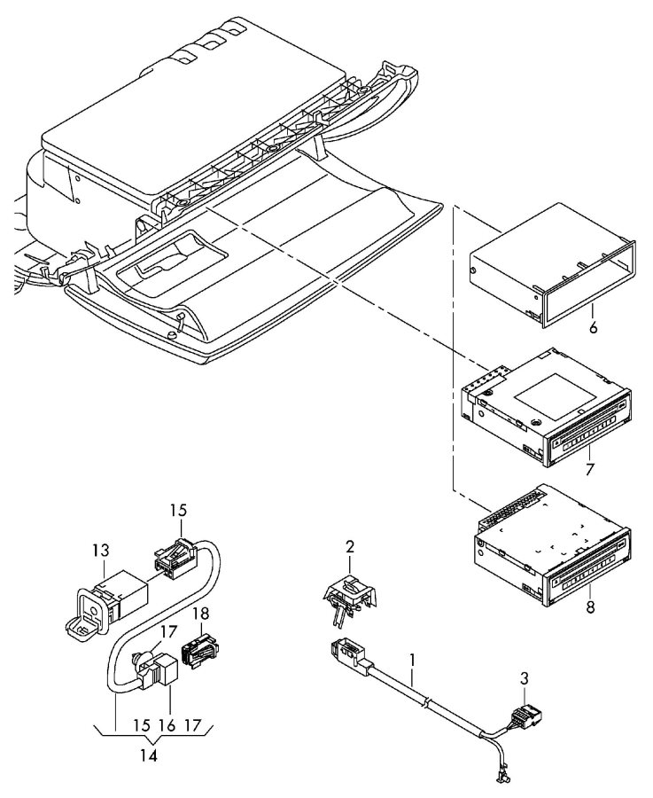 Audi Connection for external audio sources cd-changer dvd