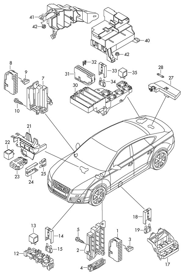 Fuse Box Audi R8. Audi. Vehicle Wiring Diagrams