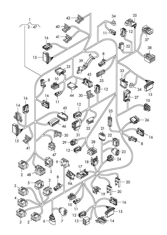 2004 Audi RS6 Coupling piece connecting piece code plug