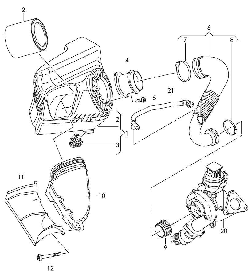 2011 Audi S4 Avant Mass air flow sensor. VOLUME AIR FLOW
