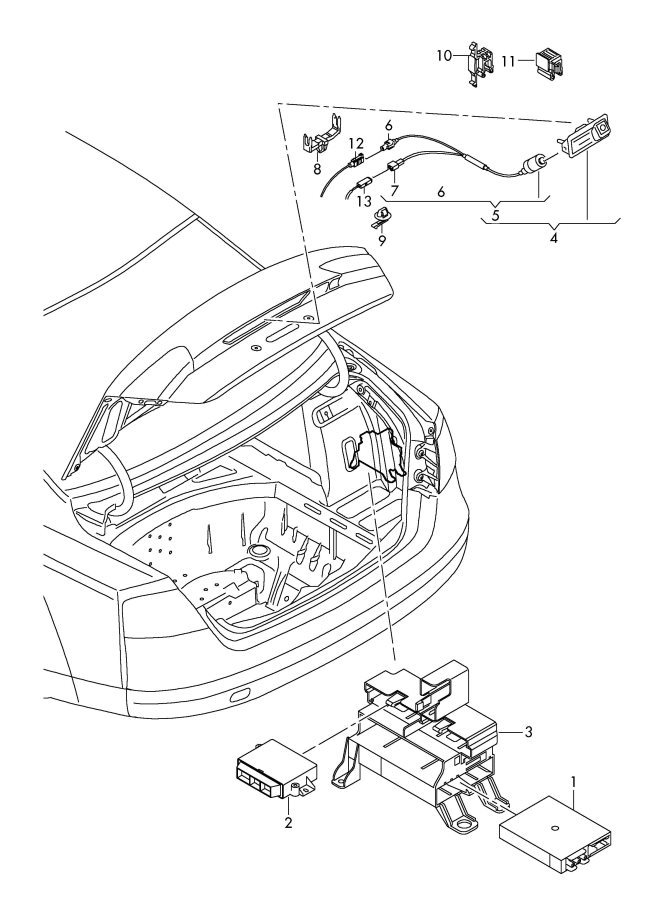 2001 Audi A6 Quattro Allroad Antenna splitter antenna