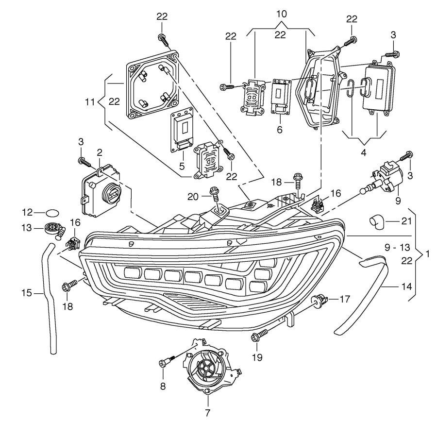 Audi A8 Quattro Leistungsmodul fuer hauptlichtelektronik