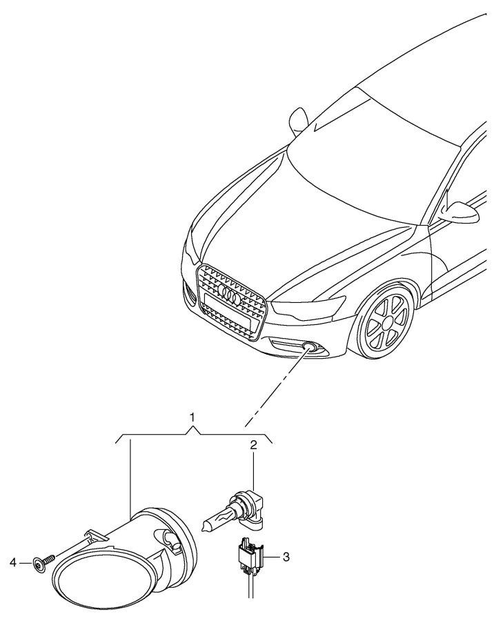 2005 Audi S4 Halogen fog lamp for fog lamp flat contact