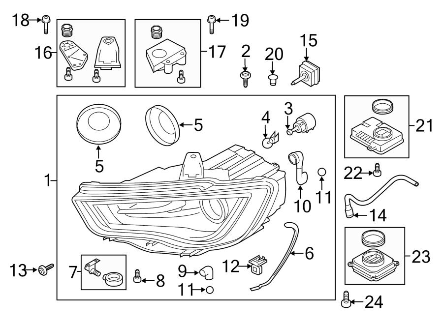 2015 Audi A3 Headlight Housing Vent Tube. Vent tube
