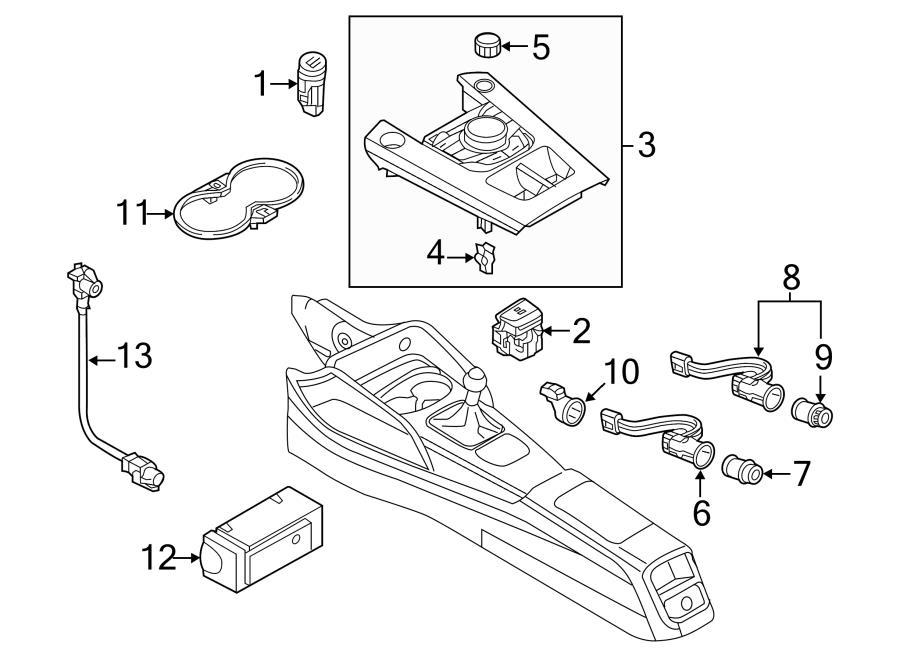 2015 Audi A3 Electronic Parking Brake Control Switch. PRK