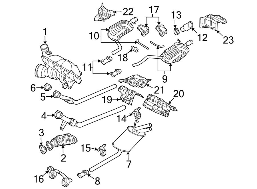 Audi A4 Avant Exhaust Muffler. 2.0 LITER, W/QUATTRO. A4; 2
