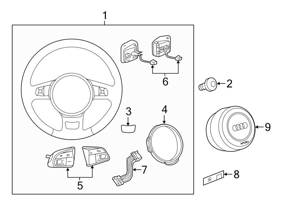 Audi S7 Harness. Steering Wheel Wiring Harness. Wire