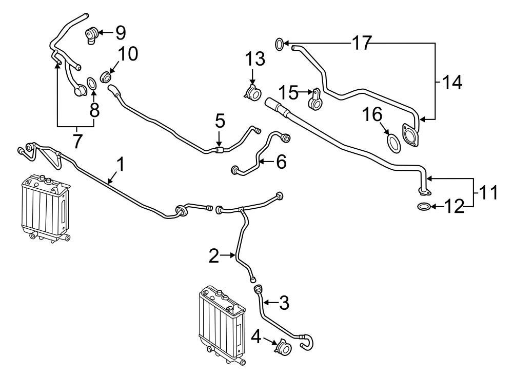 Audi RS7 Engine Coolant Overflow Hose. Reservoir hose