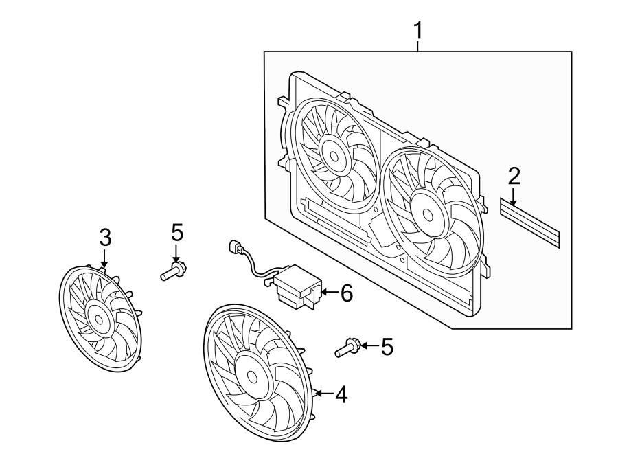 Audi Q3 Fan. Motor. Engine. Cooling. Controller