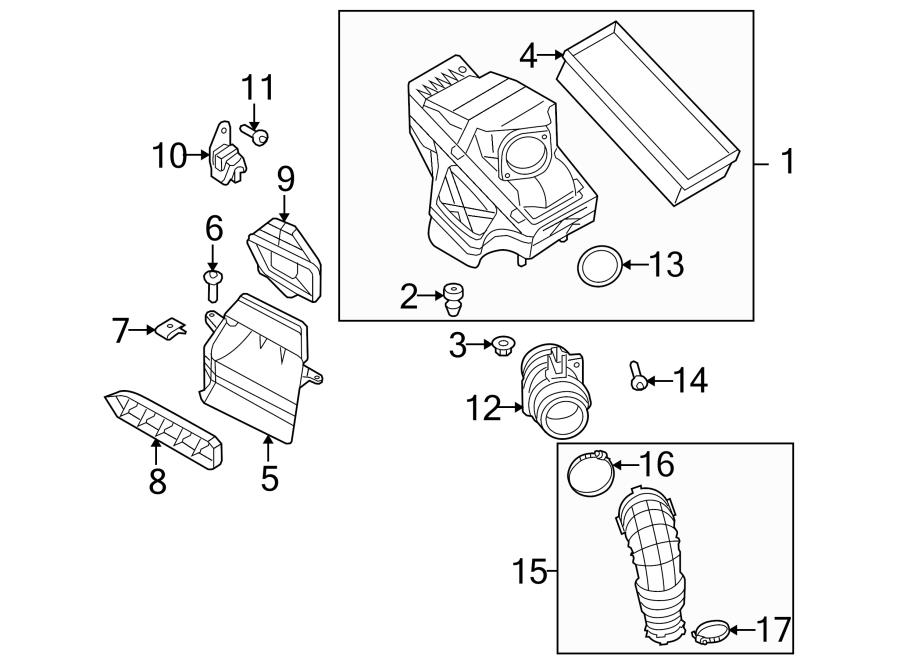2014 Audi A5 Engine Air Intake Hose Debris Screen