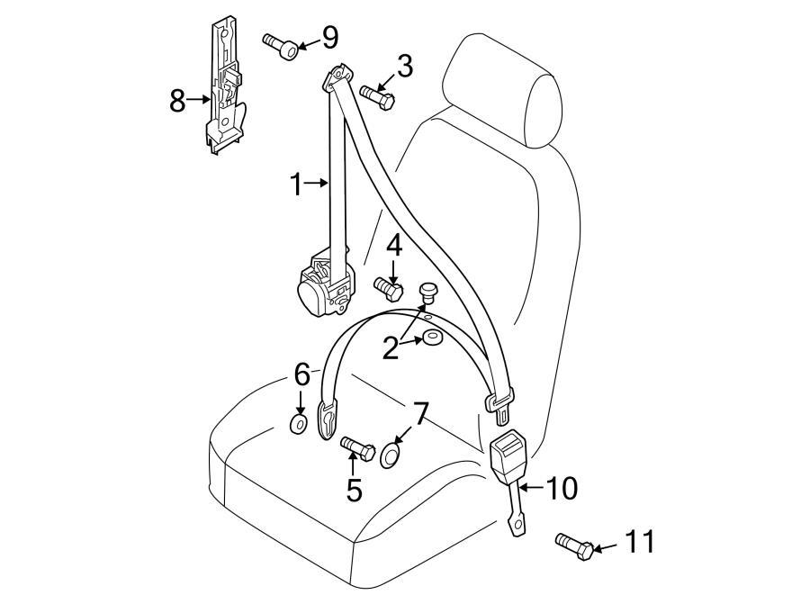 2017 Audi A5 Seat belt assy. Seat Belt Lap and Shoulder