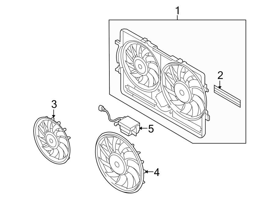 Audi A5 Control module. Controller. Engine Cooling Fan