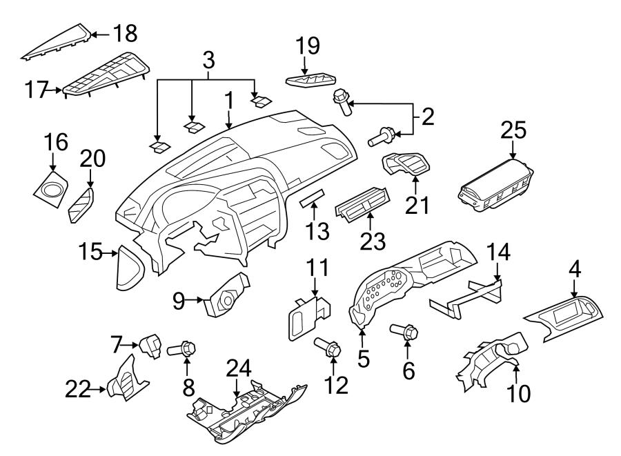 2013 Audi S5 Instrument Panel Knee Bolster. Instrument