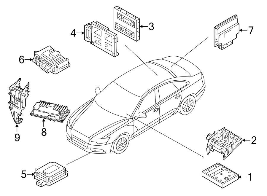 2012 Audi Control unit for radio controlled garage door