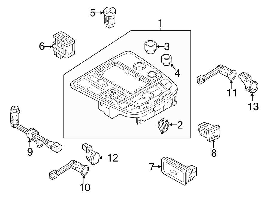 Audi A6 Rotary knob for menu guide. SETTING KNOB