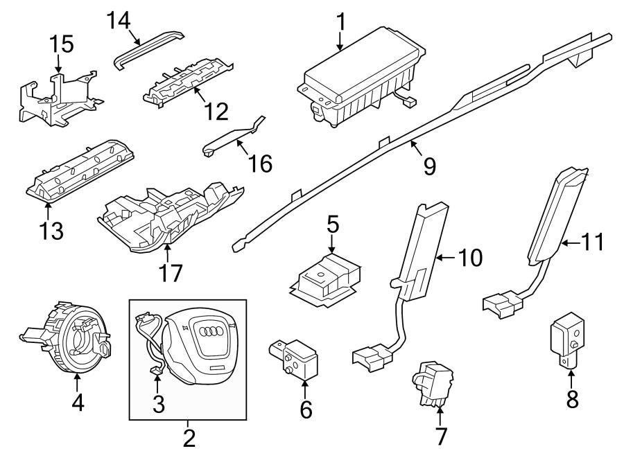 2014 Audi A6 Sensor for longitudinal acceleration
