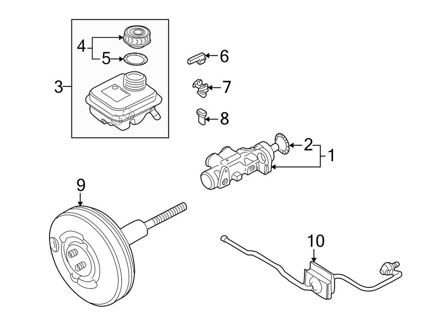 Audi S6 Brake Master Cylinder Reservoir Cap Gasket