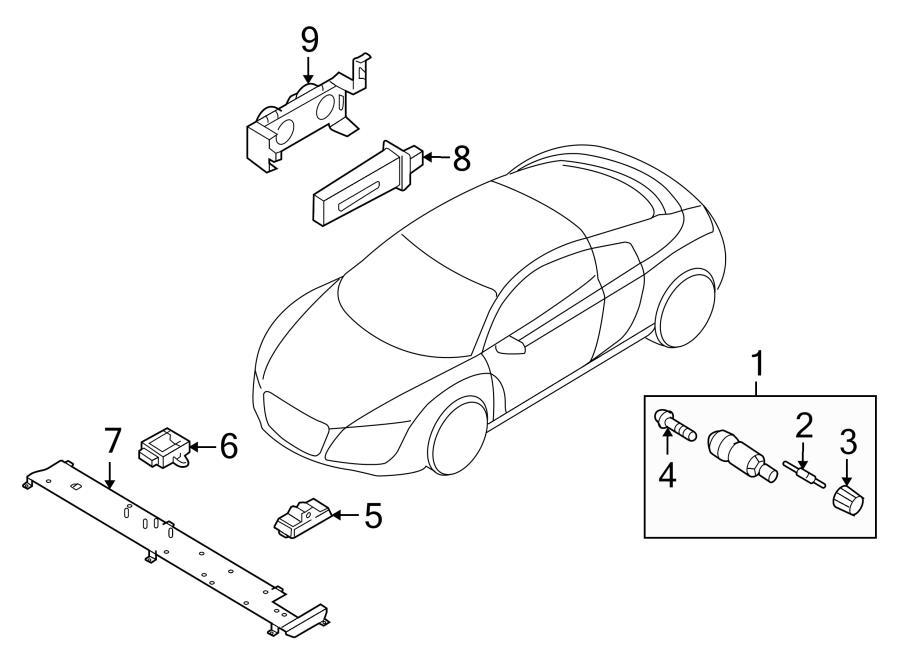 2012 Audi Fill valve. Tire Pressure Monitoring System