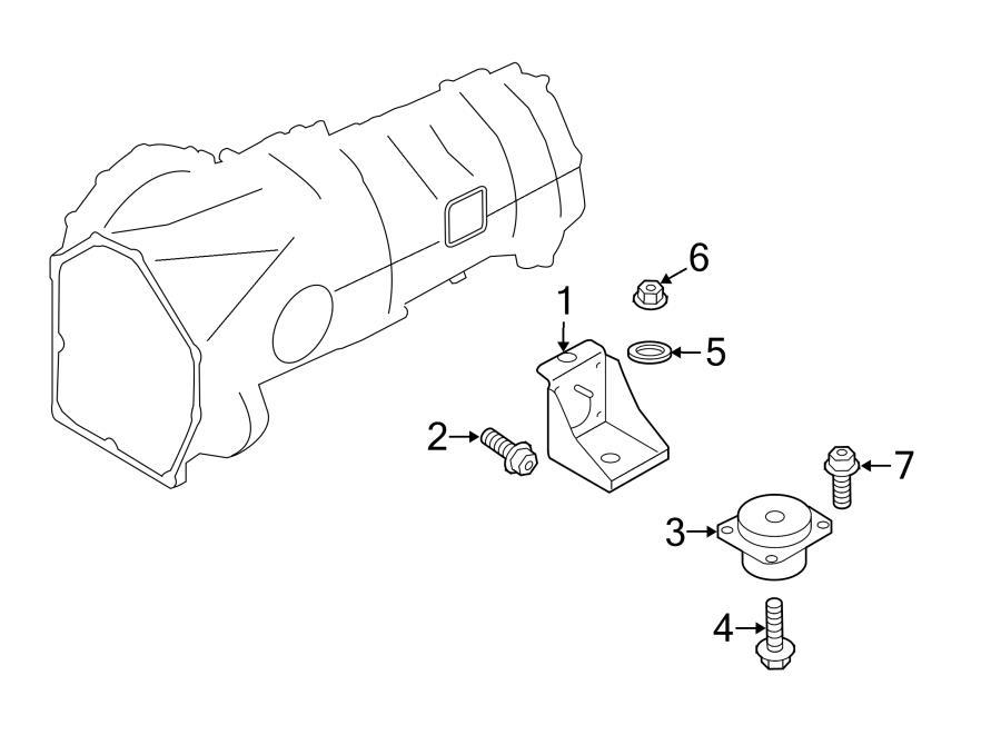 2014 Audi R8 Manual Trans Mount Spacer. Trans mount spacer