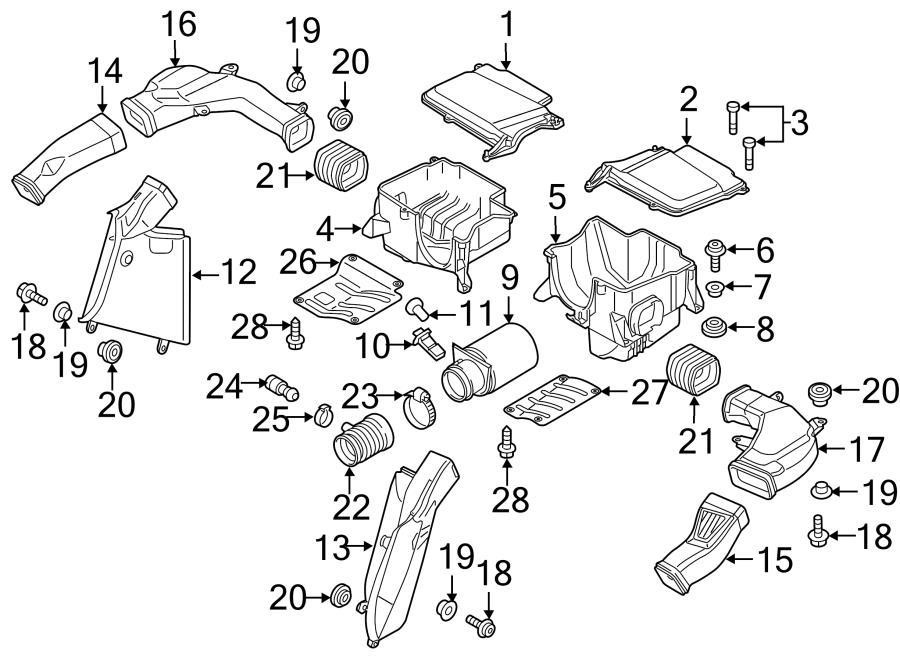 2015 Audi R8 Engine Air Intake Hose. Intake duct