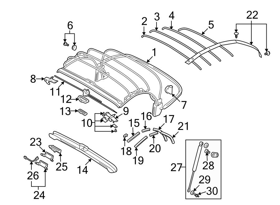 Audi TT Roadster End plate. W/manual top. W/power top