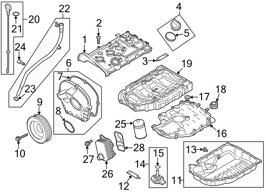 Audi TT Drain plug. Engine Oil Drain Plug. Lower oil pan