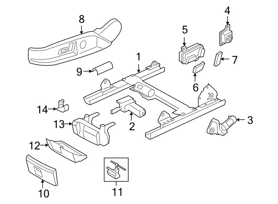 Audi TT Channel for seat with motor for longitudinal