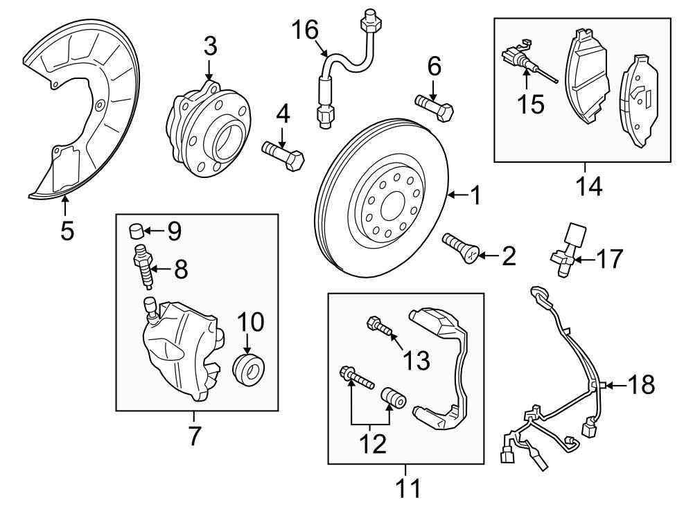 Audi TT Front hub & bearing. Hub & bearing. Wheel bearing