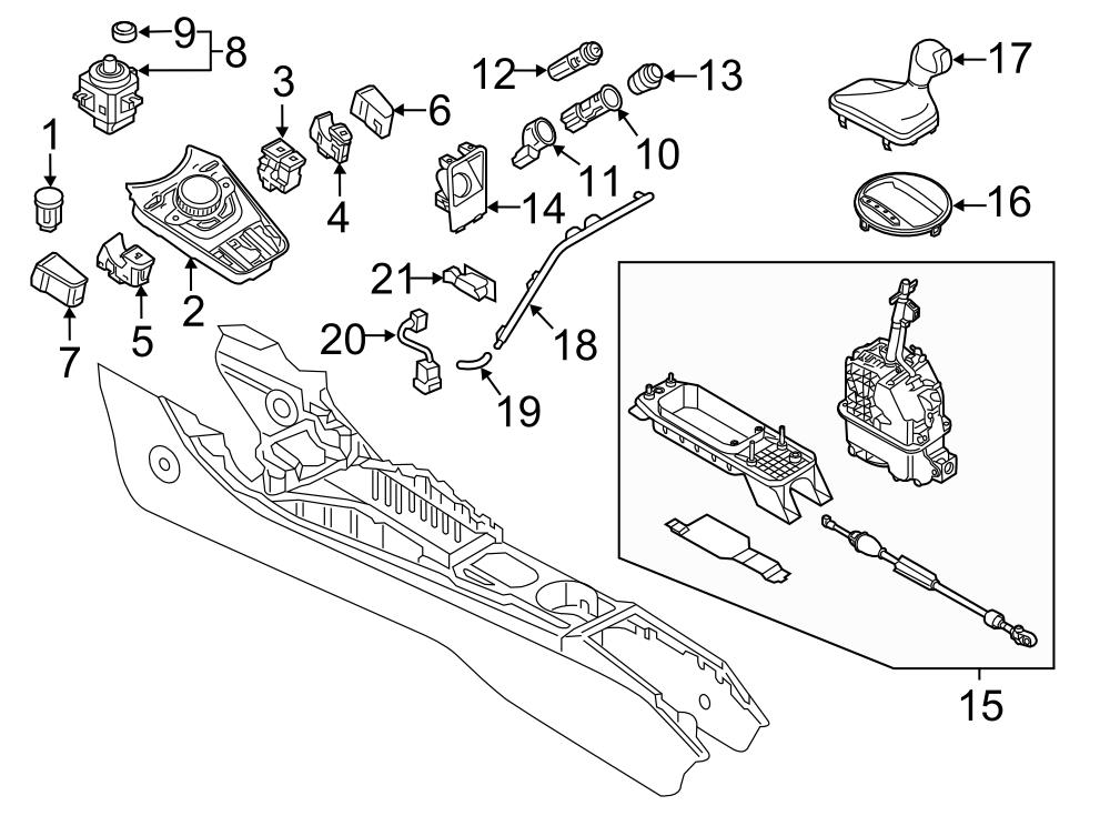 2016 Audi TT Auto Trans Shift Handle. Shift knob