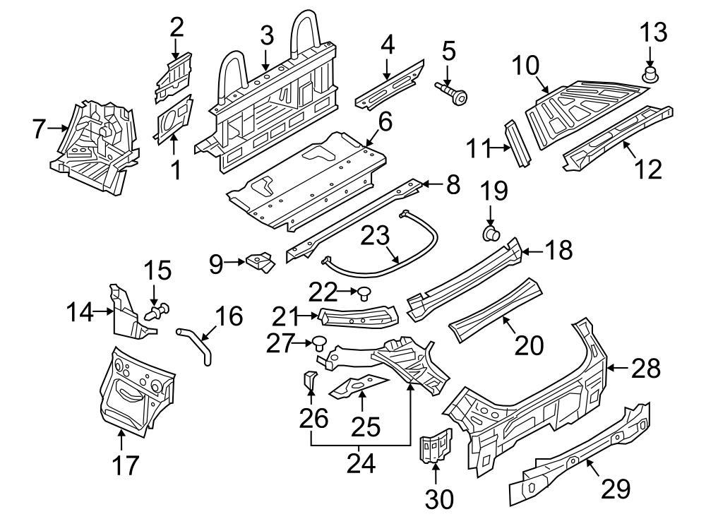 2016 Audi TT Outer panel retainer. CONVERTIBLESOFT