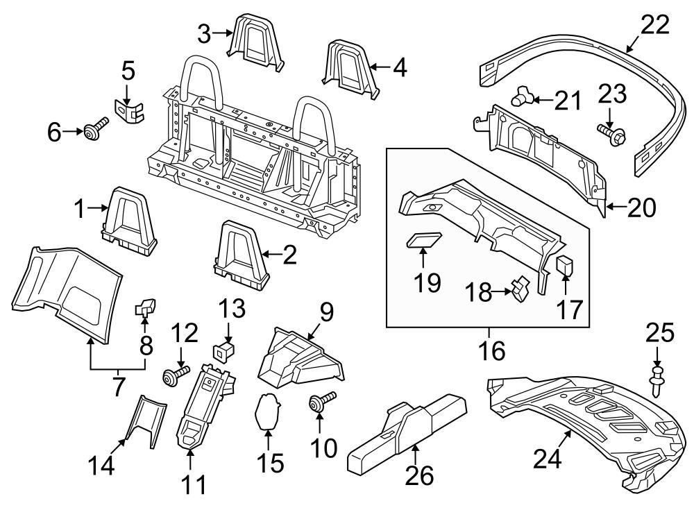 2017 Audi TT Front trim. Roll Bar Trim Panel
