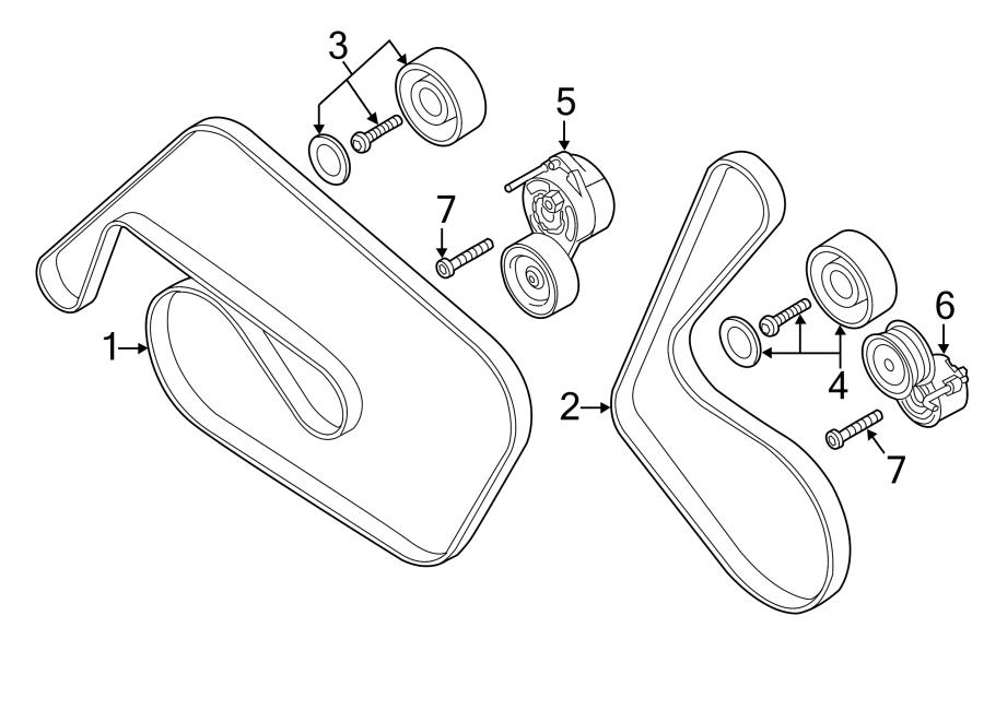 Audi Q7 Belt, V-Ribbed (A/C). REFRIGERANT COMPRESS. AC