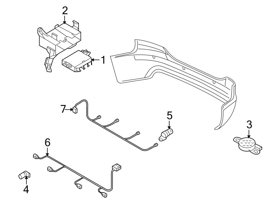 2013 Audi Q7 Control module. Park Assist Control Module