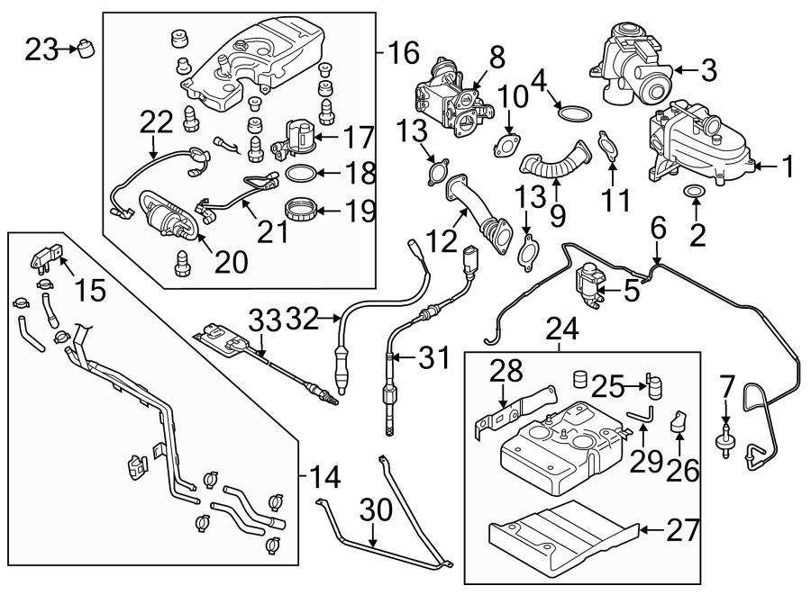 Audi Q7 Exhaust recirculation emissions temperature sensor