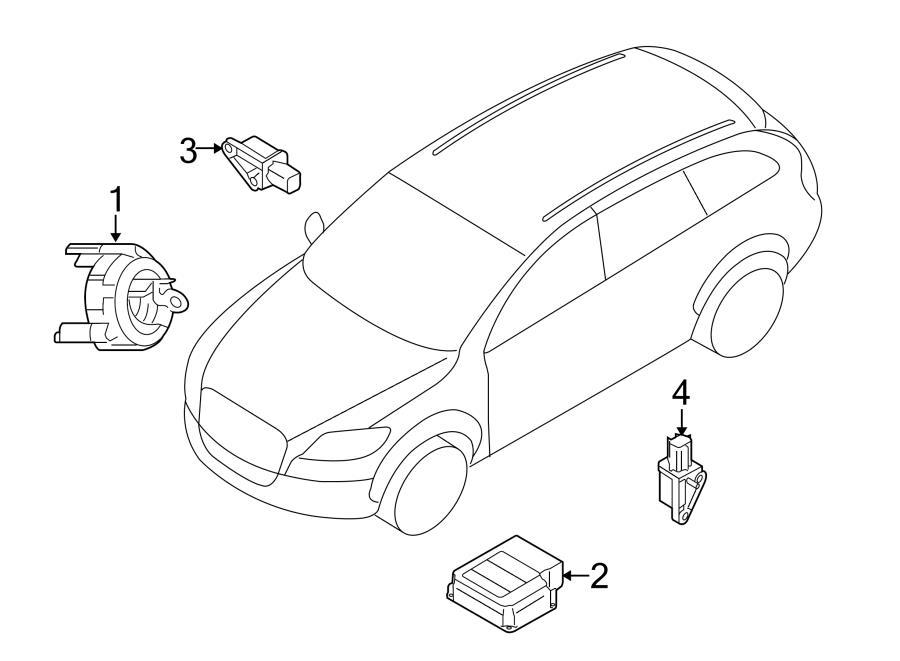 2012 Audi Q7 Air Bag Impact Sensor (Front, Rear