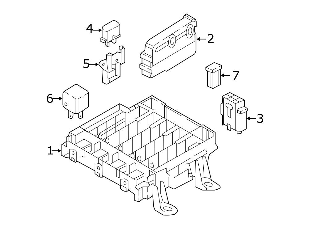 Audi Q7 Fuse box/relay plate for vehicles with stationary