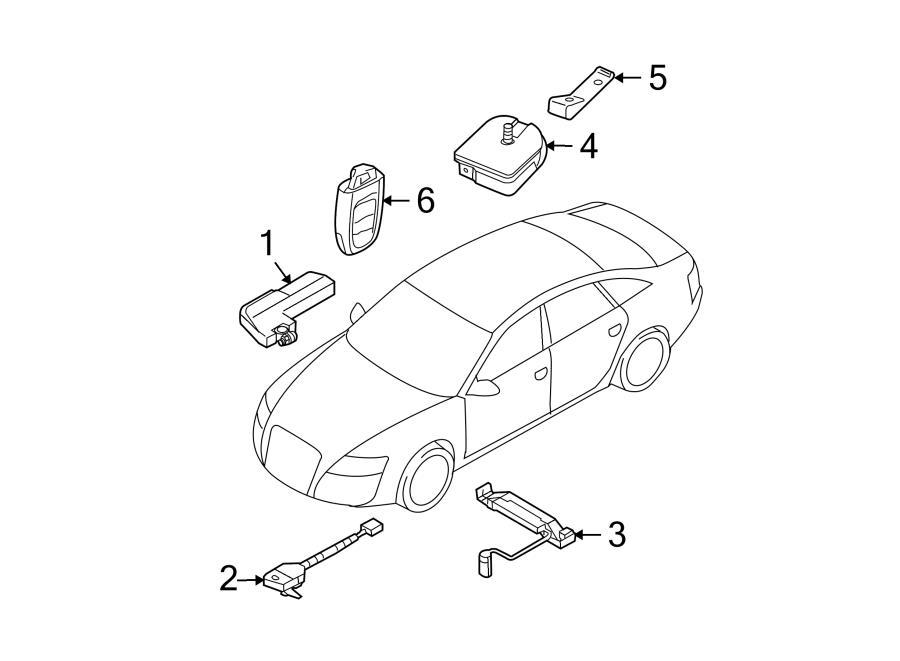 Audi Q5 Electronic siren matching contact housing
