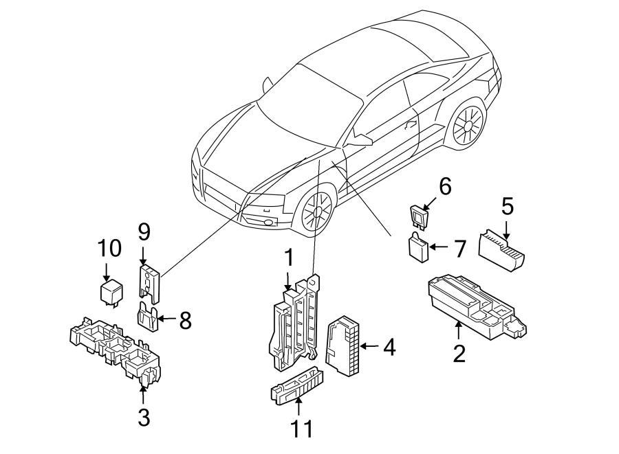 2017 Audi Q5 Fuse Box. Relay & fuse plt. Relay Box. Relay