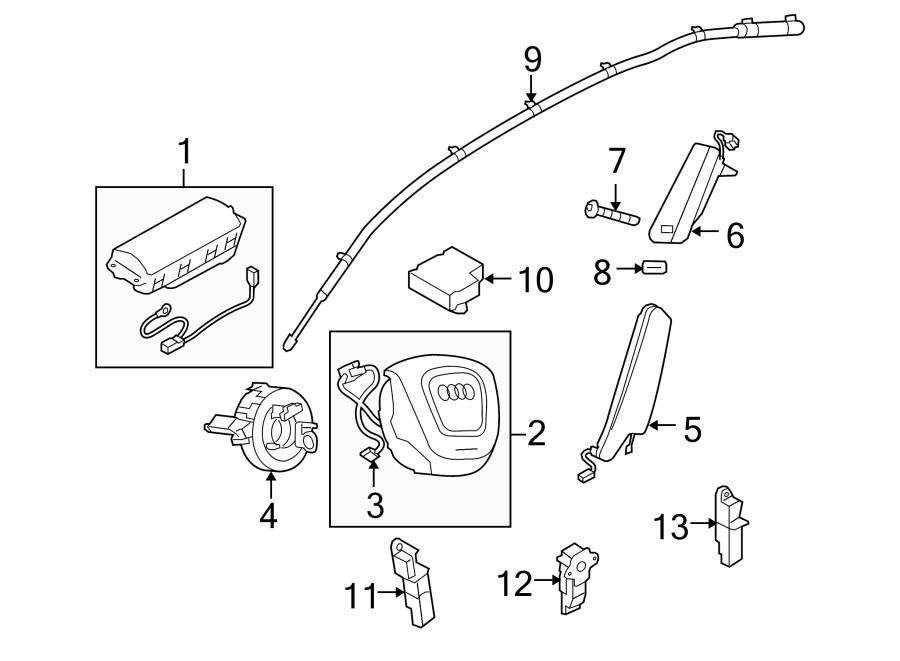 2013 Audi Q5 Air Bag Wiring Harness. Harness. Steering
