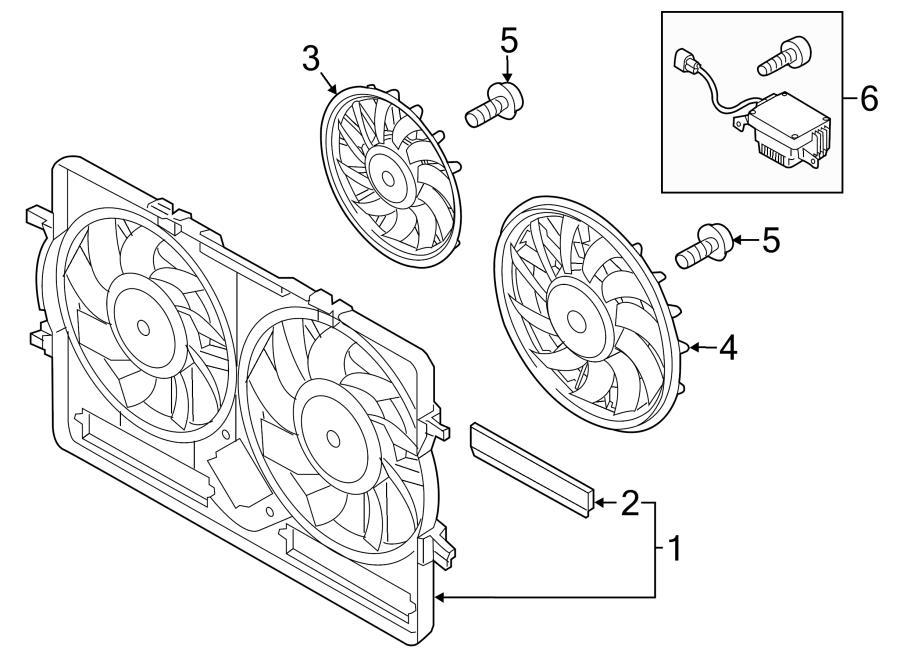 2015 Audi Q5 Engine Cooling Fan Shroud. Coding, Moderate